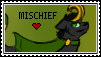 Mischief Fan Stamp .:Gift:. by ForestAntlers