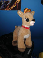 Close up of Clarice the reindeer