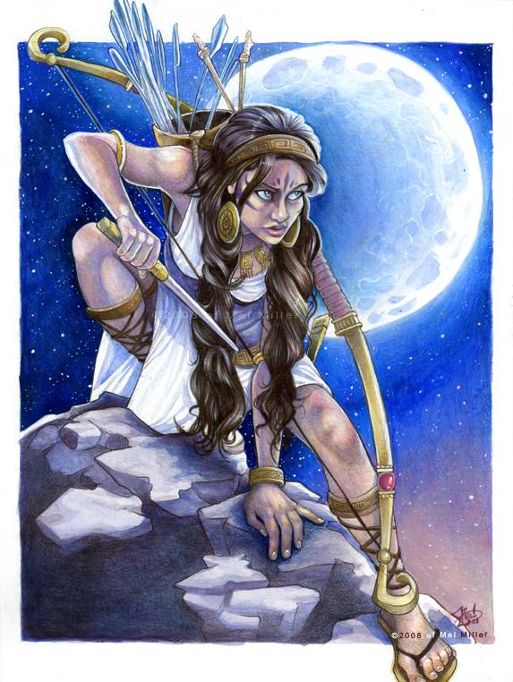 Artemis Moon by Javadoodle