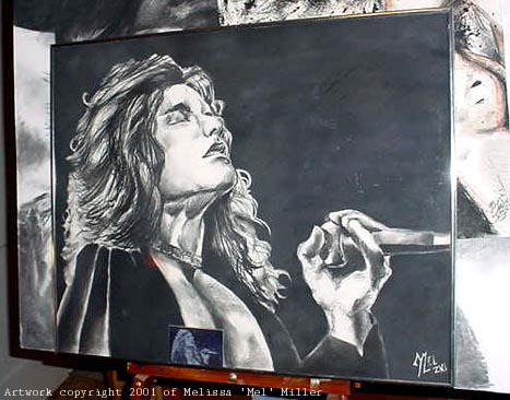 Robert Plant - 2001 charcoal by Javadoodle