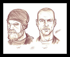Opie and Happy Quickies by Javadoodle