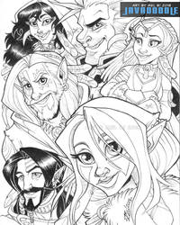 The Six Shifters 2018 (Lineart) by Javadoodle