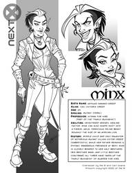 Character Sheet: Minx (Commissions Open)