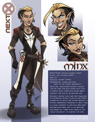 Character Sheet: Minx Color (Commissions Open)