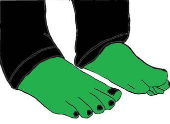 Green Feet by guitarheroexpert2015