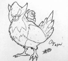 [Inktober #2] Staraptor and Starly sketch+lineart by Sirix1995