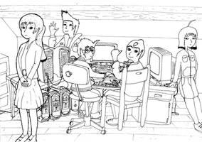 Replika on the Web (old drawing, Code Lyoko OCs) by Sirix1995