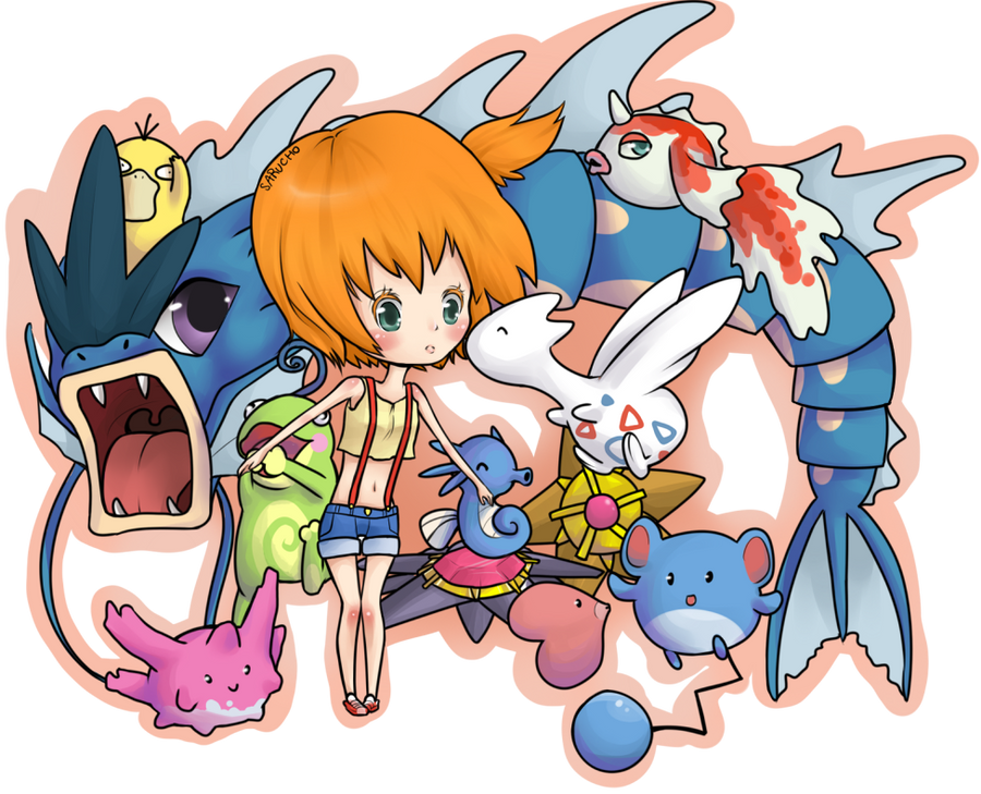 Misty And Her Pokemon By Sarucho On Deviantart
