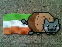 Irish Nyan cat by Birdseednerd