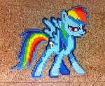 Rainbow Dash perler