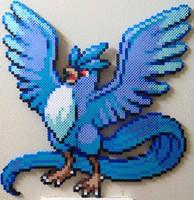 Articuno perler by Birdseednerd
