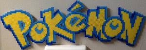Pokemon logo perler by Birdseednerd
