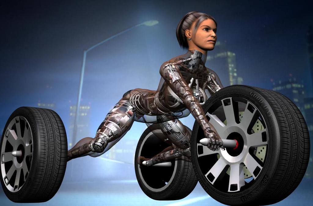 Human-Machine Hybrid Three-wheel Buggy by Zerozero91 on DeviantArt