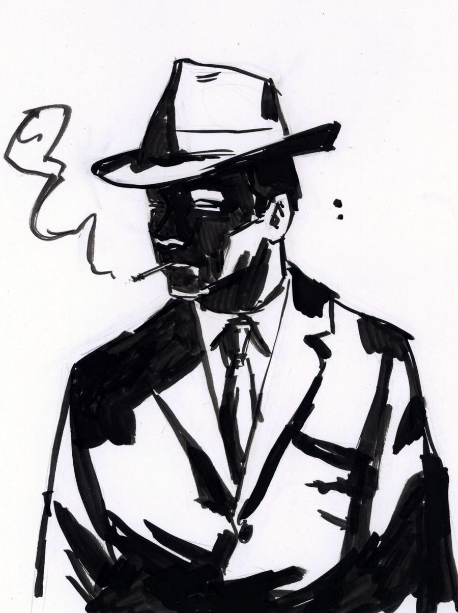 detective ink sketch by robwake detective ink sketch by robwake