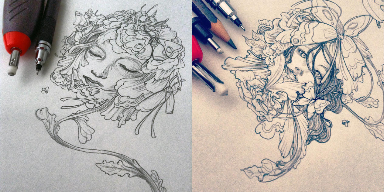 James Jean Art Study + Original Piece by heycheri