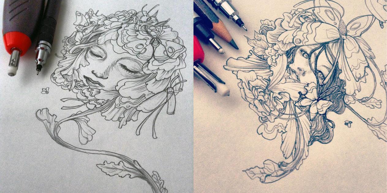James Jean Art Study + Original Piece by heycheri