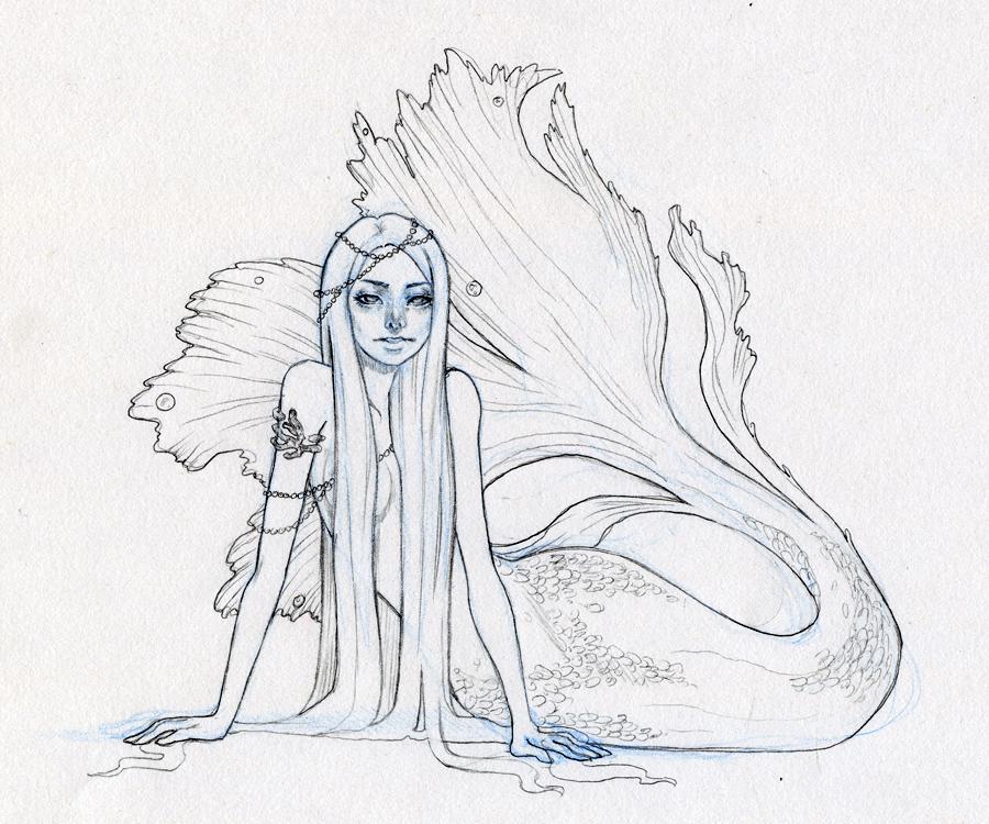 Mermaid WIP by heycheri