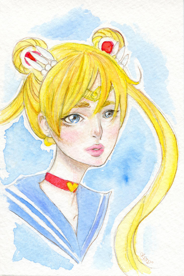 Sailor Moon Commission by heycheri