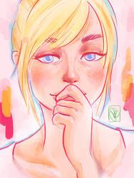 Pastel Portrait Practice by heycheri