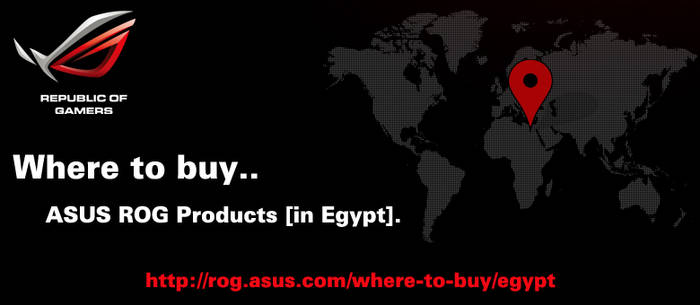 Where to Buy ASUS ROG Products in Egypt by shadicasper