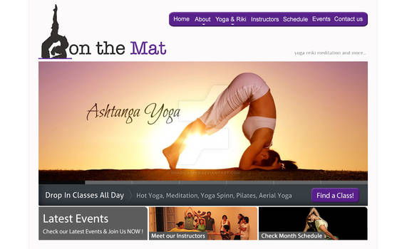 On-The-Mat Studio - Home Page Layout Design