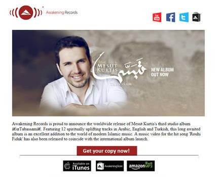 Tabassam - Album Release Newsletter