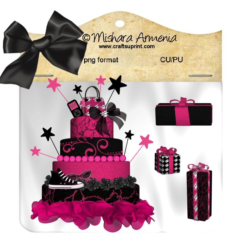 Birthday Cake Pink Emo By Mishara76 On Deviantart