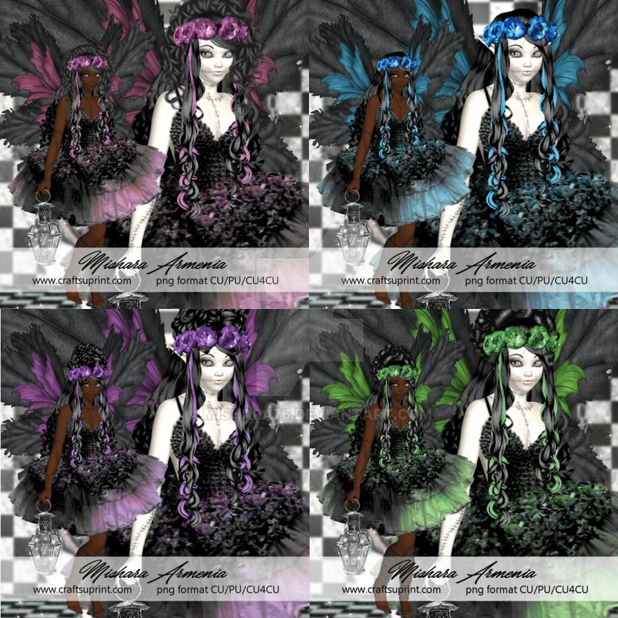 Dark fairies by Mishara76