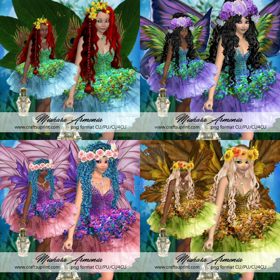 Natura fairies by Mishara76