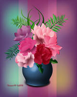 Vase of Roses by desmo100