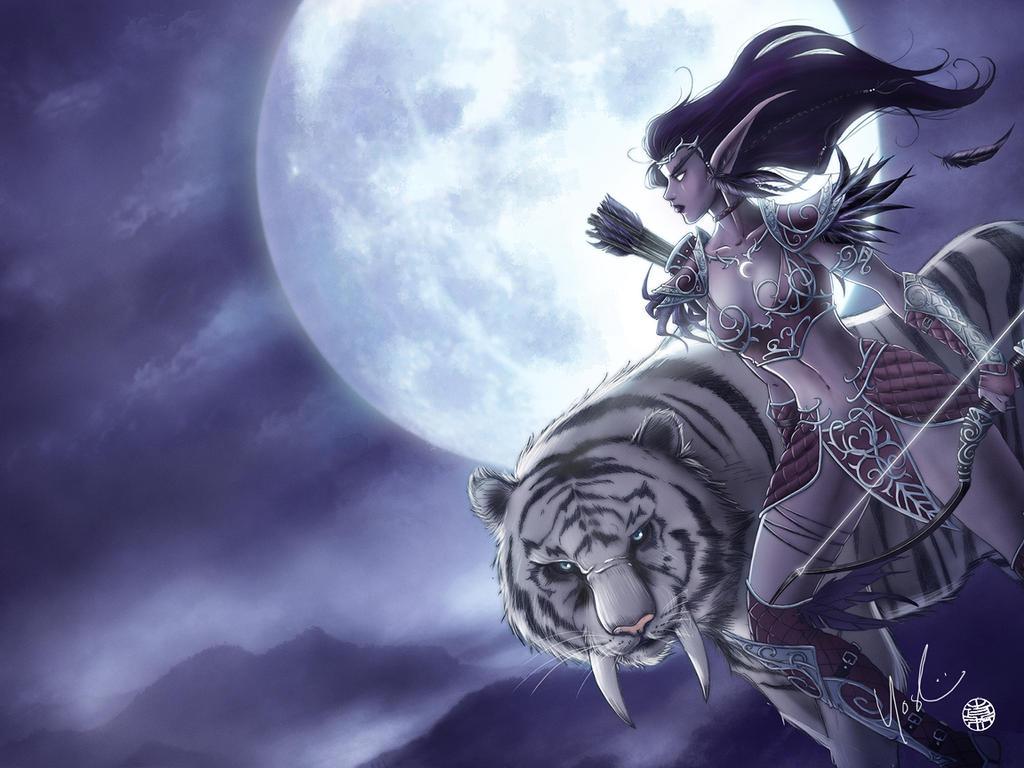 World Of Warcraft Night Elf By Protokitty On Deviantart