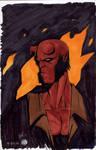 Hellboy Marker Sketch