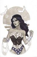 Wonder Woman Sunset Sketch by Protokitty