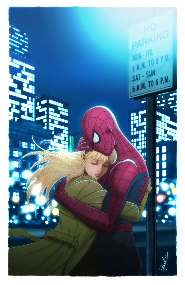 Spider-Man and Gwen Stacy Color by Protokitty on DeviantArt