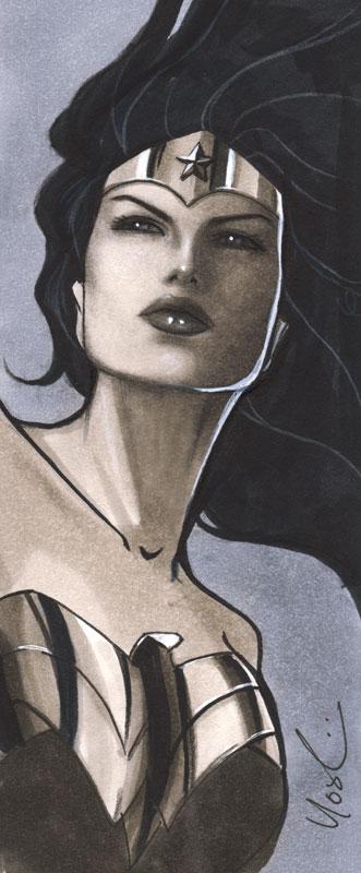 Wonder Woman Mini Portrait by Protokitty