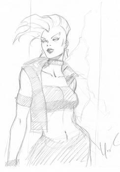 Punk Storm Pencil Sketch