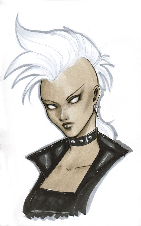 Storm Head Sketch by Protokitty