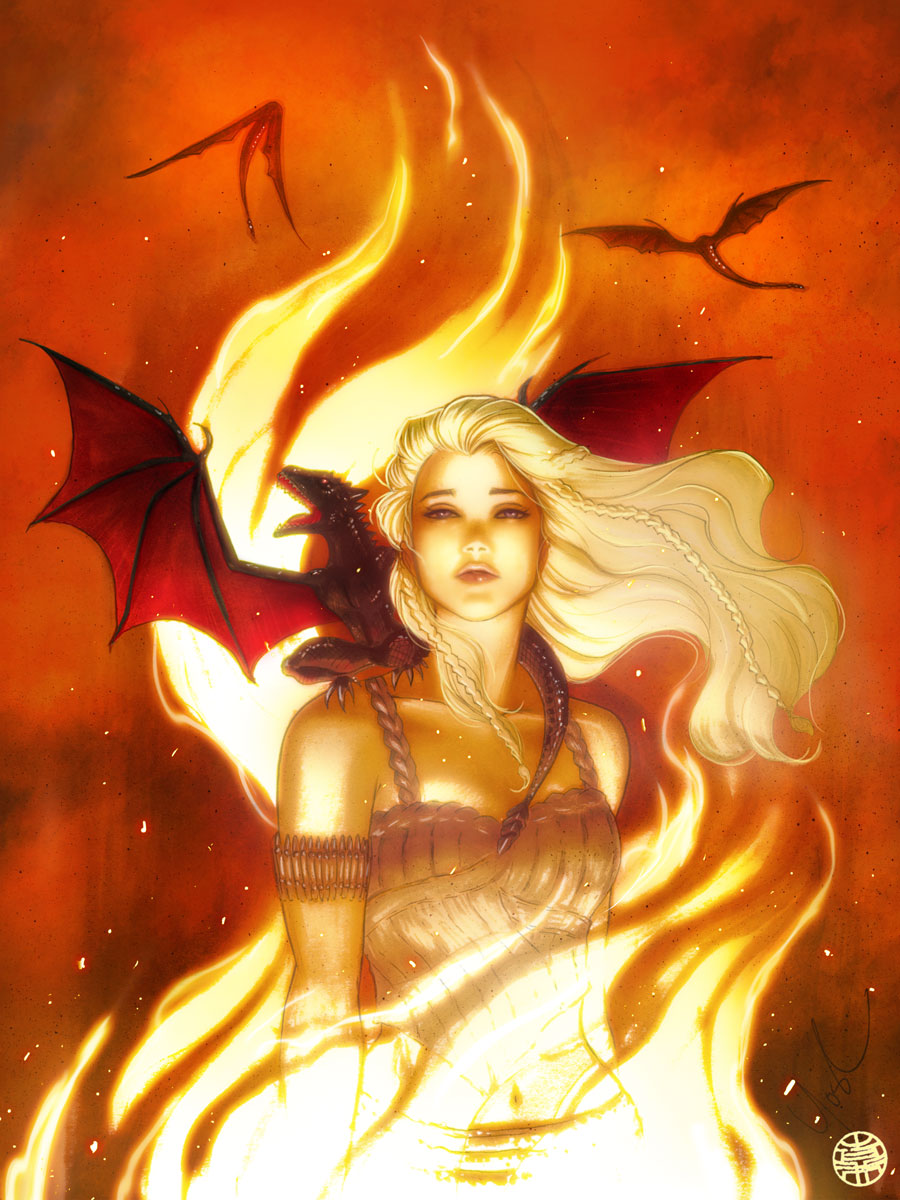Game of Thrones Daenerys Color by Protokitty