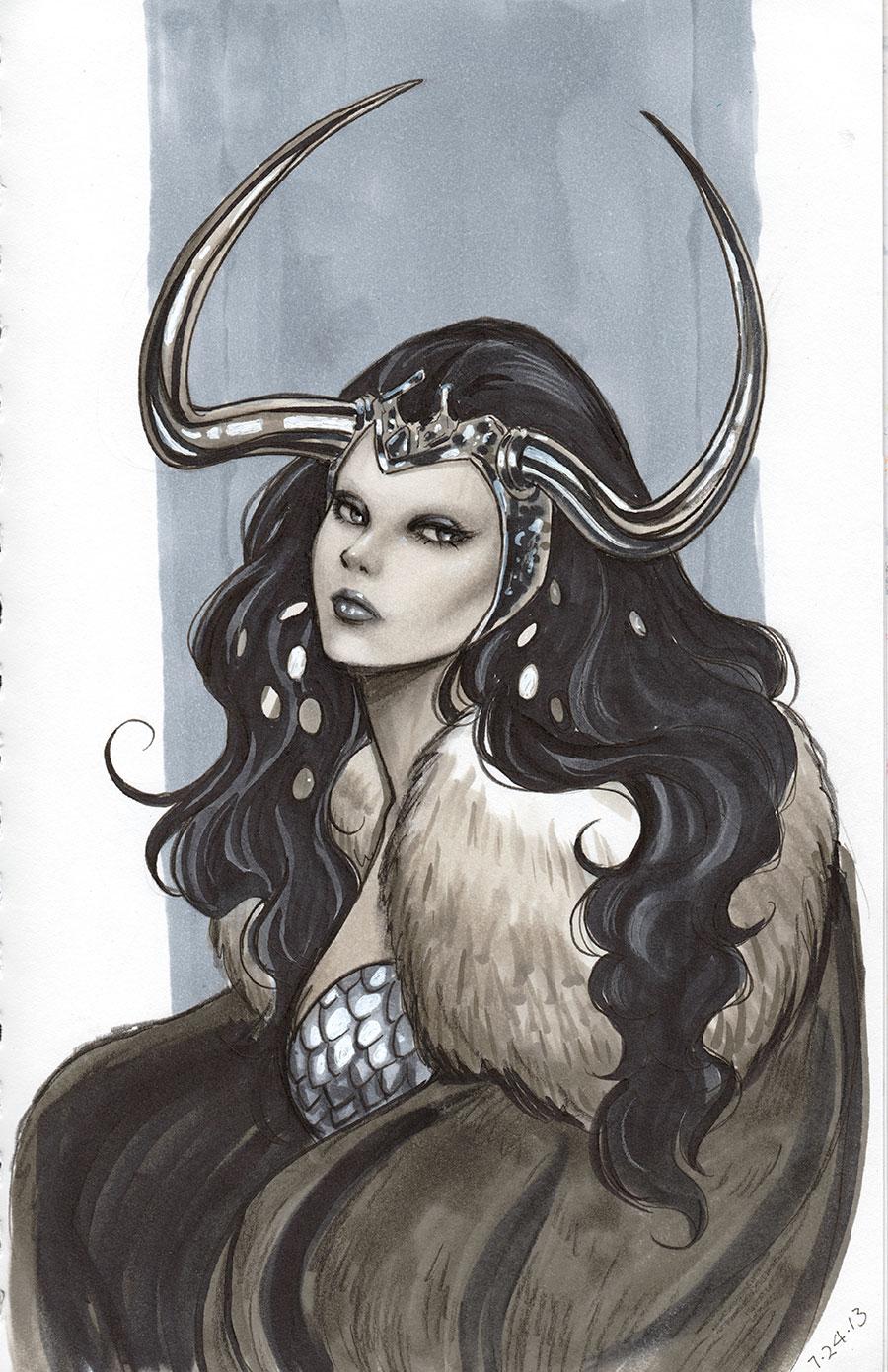 Lady Loki Sketch by Protokitty