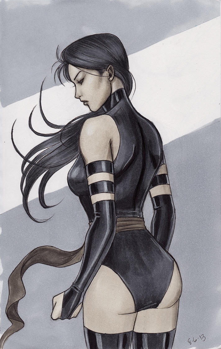 Psylocke Sketch by Protokitty