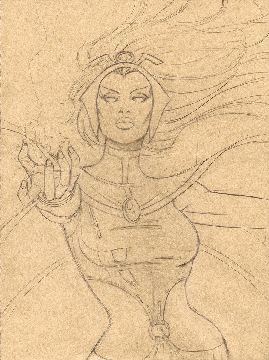 Storm Portrait Pencils 2013 NYCC Charity Auction by Protokitty