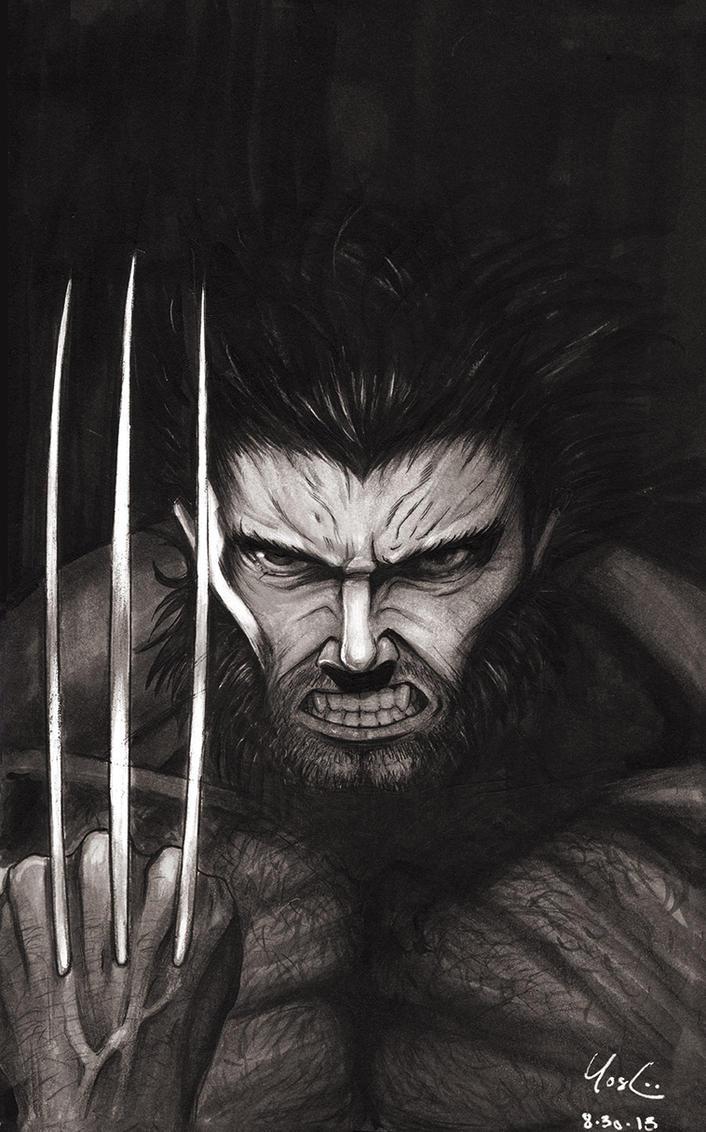 Wolverine Portrait Sketch by Protokitty