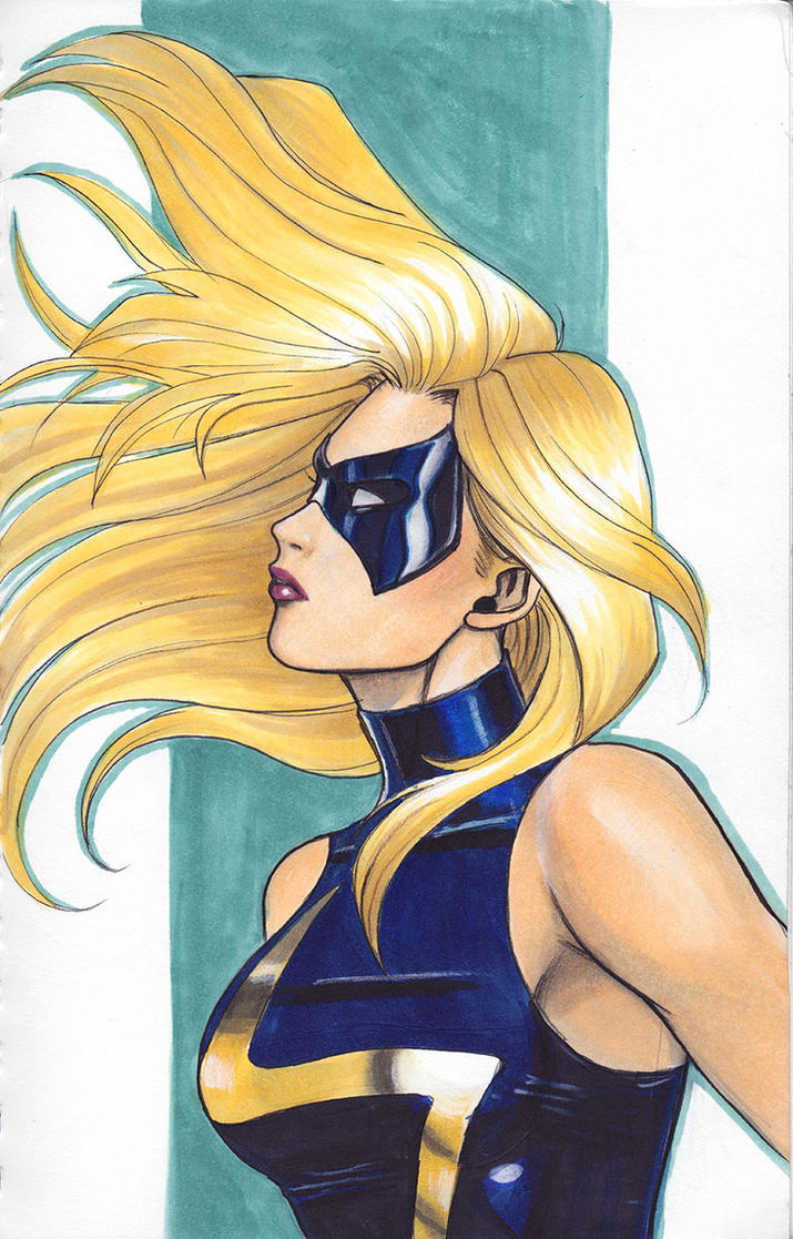 Ms. Marvel Sketch by Protokitty