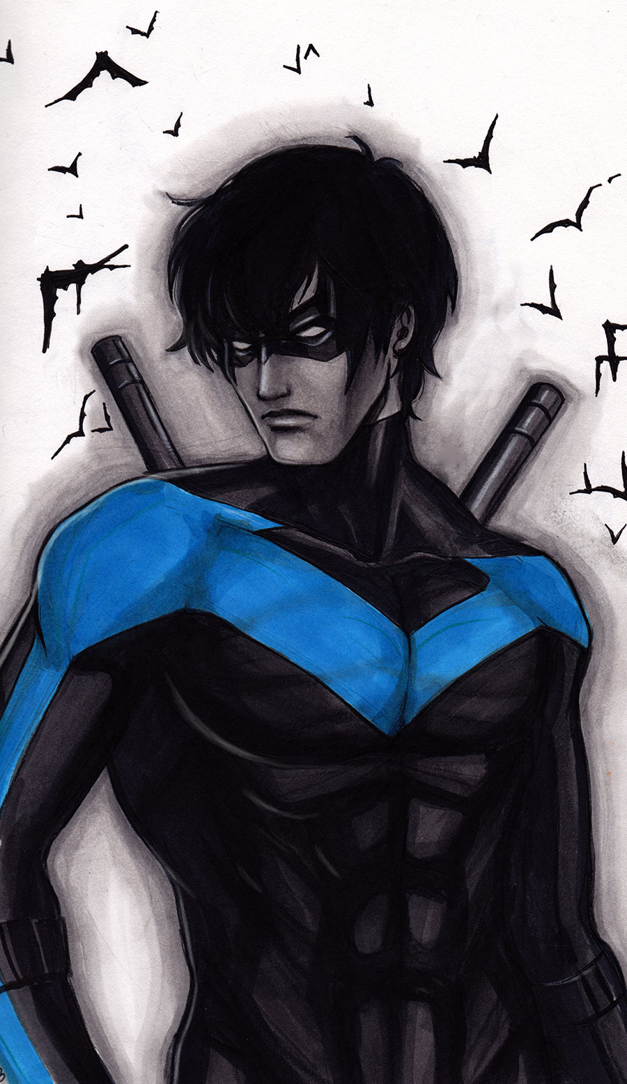 Nightwing Sketch by Protokitty