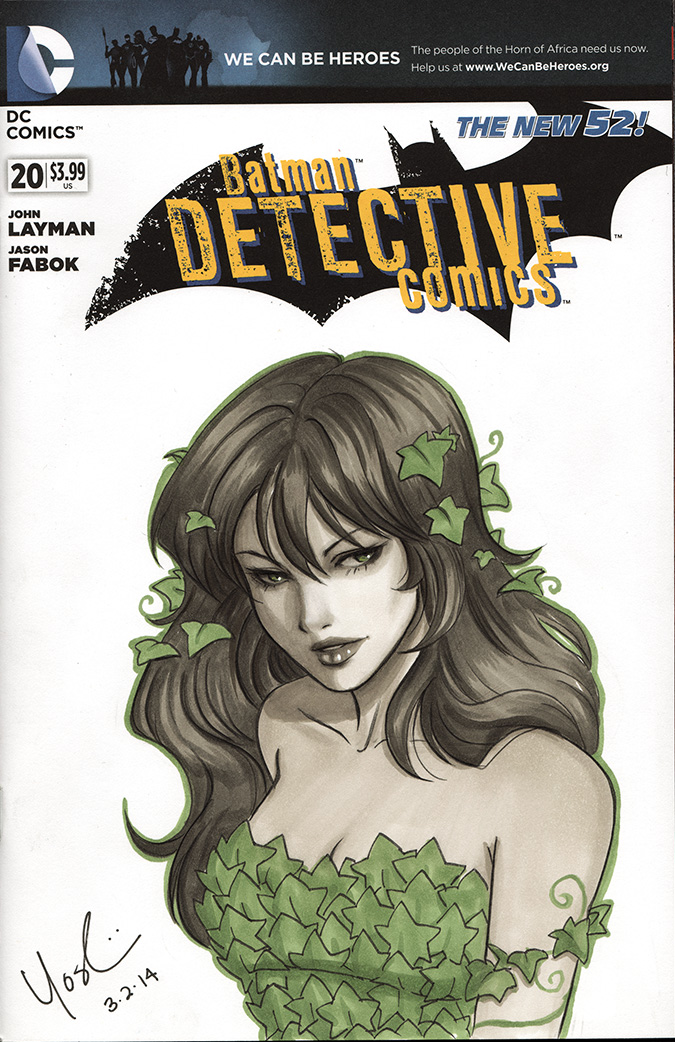 Posion Ivy Cover Sketch by Protokitty
