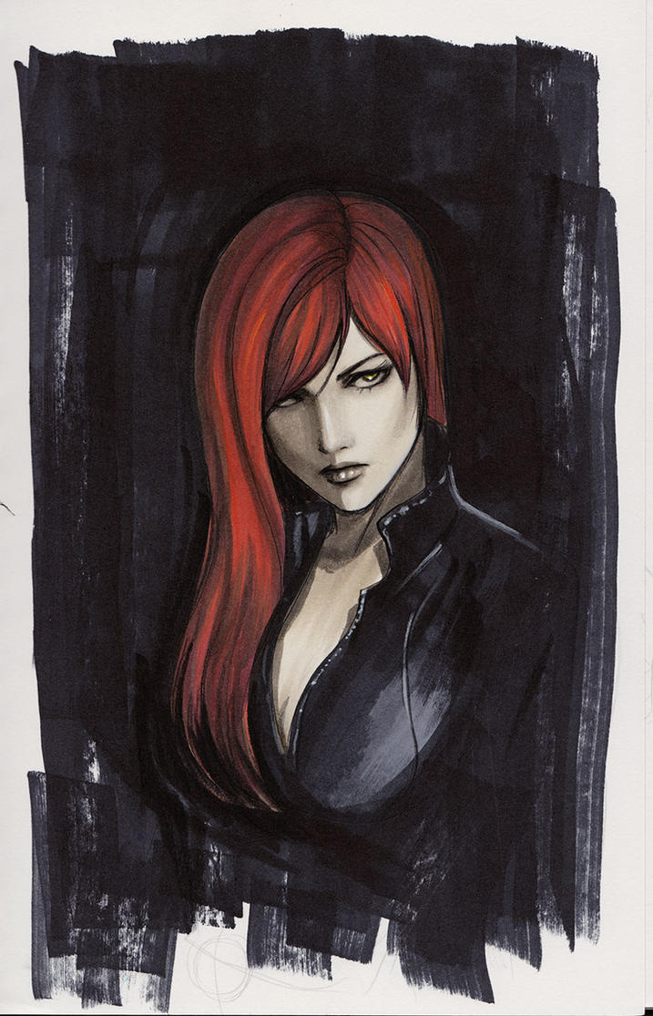 Black Widow Sketch by Protokitty