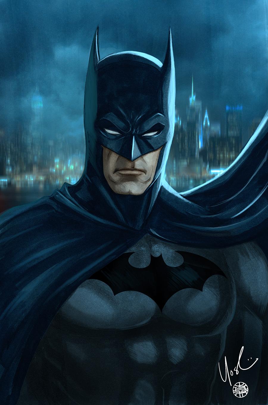 Batman Portrait by Protokitty