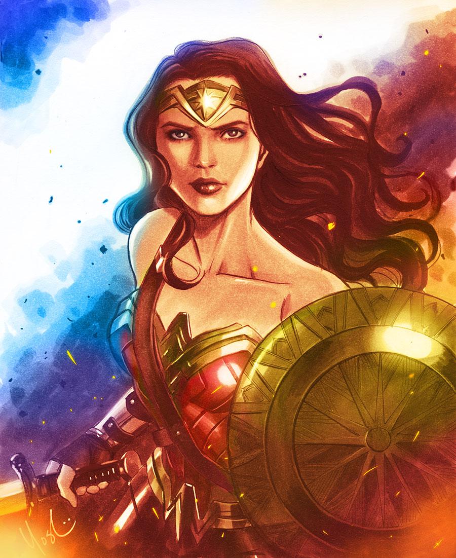 Wonder Woman Gadot Color by Protokitty