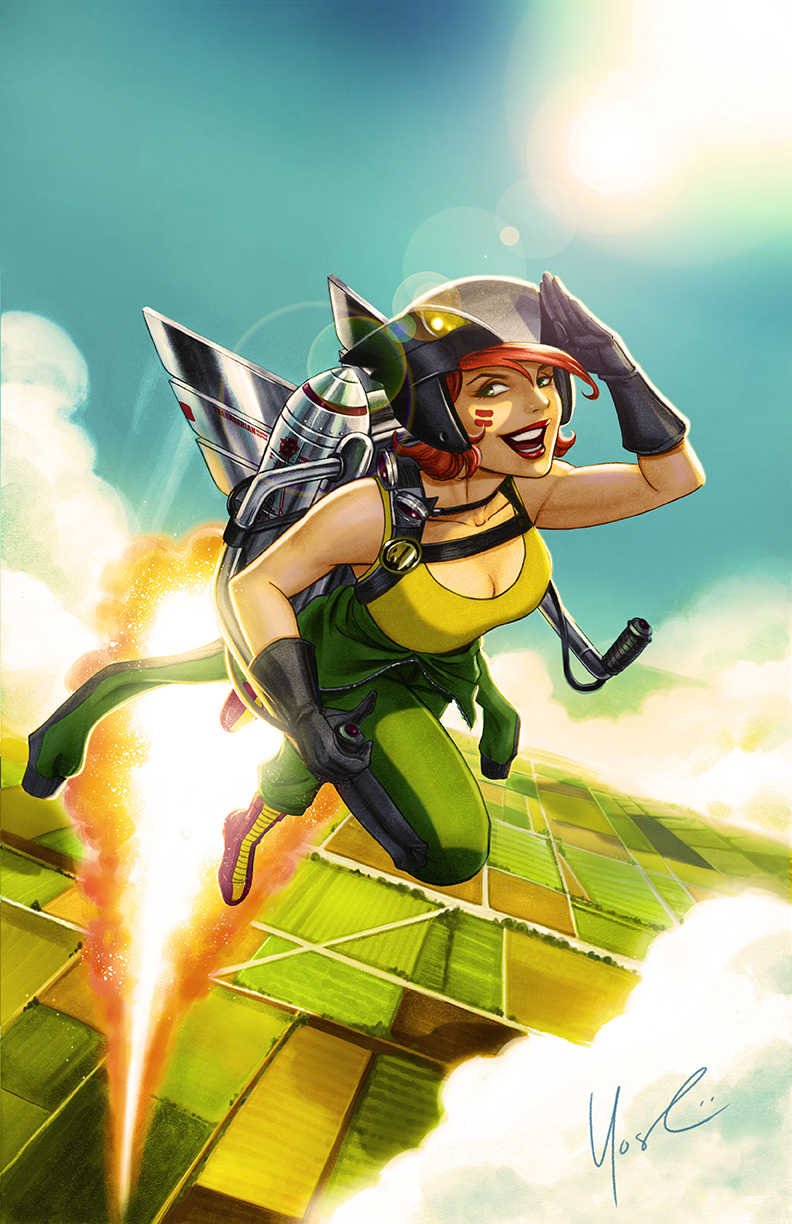 Hawkgirl DC Bombshells Color by Protokitty