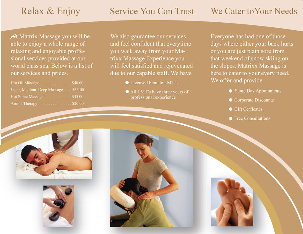 Beautiful Massage Brochure Continued By Danstosich ...